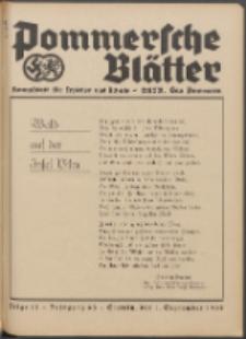 Pommersche Blätter : Kampfblatt für Erzieher und Schule. Jg. 63, 1938 Folge 11