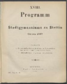 Programm 1887