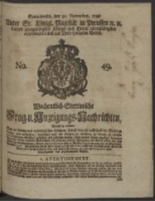 Wochentlich-Stettinische Frag- und Anzeigungs-Nachrichten. 1748 No. 49