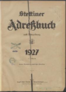 Stettiner Adressbuch : unter Benutzung amtlicher Quellen 1927
