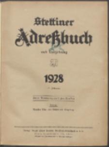 Stettiner Adressbuch : unter Benutzung amtlicher Quellen 1928