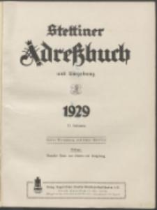 Stettiner Adressbuch : unter Benutzung amtlicher Quellen 1929