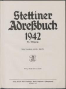 Stettiner Adressbuch : unter Benutzung amtlicher Quellen 1942
