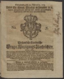 Wochentlich-Stettinische Frag- und Anzeigungs-Nachrichten. 1753 No. 7 + Anhang