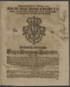 Wochentlich-Stettinische Frag- und Anzeigungs-Nachrichten. 1753 No. 12 + Anhang