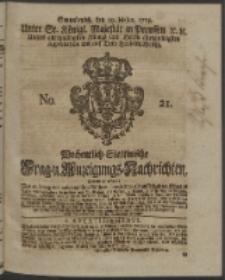 Wochentlich-Stettinische Frag- und Anzeigungs-Nachrichten. 1753 No. 21 + Anhang
