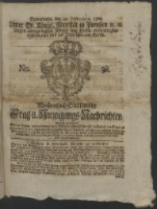 Wochentlich-Stettinische Frag- und Anzeigungs-Nachrichten. 1766 No. 38 + Anhang