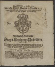 Wochentlich-Stettinische Frag- und Anzeigungs-Nachrichten. 1757 No. 17 + Anhang