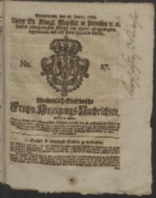 Wochentlich-Stettinische Frag- und Anzeigungs-Nachrichten. 1760 No. 27