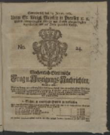 Wochentlich-Stettinische Frag- und Anzeigungs-Nachrichten. 1761 No. 24 + Anhang