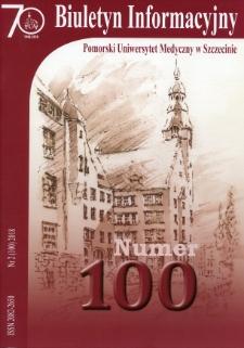 Biuletyn Informacyjny - Pomorski Uniwersytet Medyczny w Szczecinie. Nr 2 (100), 2018