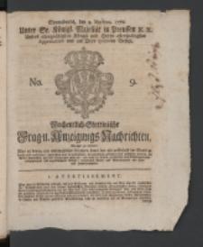 Wochentlich-Stettinische Frag- und Anzeigungs-Nachrichten. 1770 No. 9 + Anhang