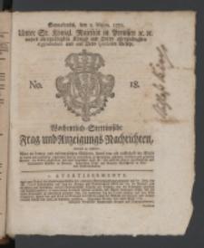 Wochentlich-Stettinische Frag- und Anzeigungs-Nachrichten. 1770 No. 18 + Anhang