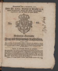 Wochentlich-Stettinische Frag- und Anzeigungs-Nachrichten. 1770 No. 44 + Anhang