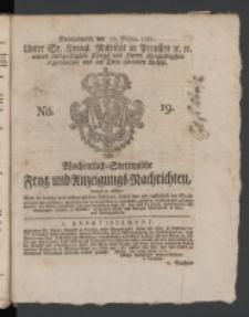 Wochentlich-Stettinische Frag- und Anzeigungs-Nachrichten. 1771 No.19 + Anhang