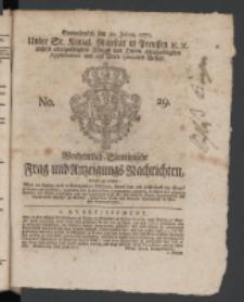 Wochentlich-Stettinische Frag- und Anzeigungs-Nachrichten. 1771 No.29 + Anhang