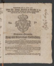 Wochentlich-Stettinische Frag- und Anzeigungs-Nachrichten. 1771 No.30 + Anhang