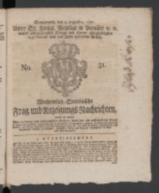 Wochentlich-Stettinische Frag- und Anzeigungs-Nachrichten. 1771 No.31 + Anhang