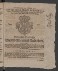Wochentlich-Stettinische Frag- und Anzeigungs-Nachrichten. 1771 No.42 + Anhang