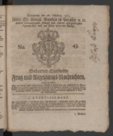 Wochentlich-Stettinische Frag- und Anzeigungs-Nachrichten. 1771 No.43 + Anhang