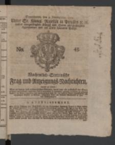 Wochentlich-Stettinische Frag- und Anzeigungs-Nachrichten. 1771 No.45 + Anhang