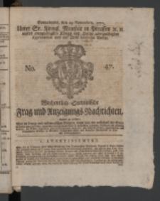 Wochentlich-Stettinische Frag- und Anzeigungs-Nachrichten. 1771 No.47 + Anhang