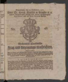 Wochentlich-Stettinische Frag- und Anzeigungs-Nachrichten. 1771 No.48 + Anhang