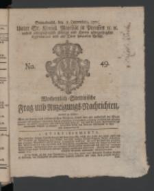 Wochentlich-Stettinische Frag- und Anzeigungs-Nachrichten. 1771 No.49 + Anhang