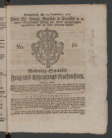 Wochentlich-Stettinische Frag- und Anzeigungs-Nachrichten. 1771 No.50 + Anhang