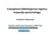 Czasopisma bibliologiczne regionu kujawsko-pomorskiego