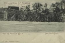 Gruss aus Ostseebad Rewahl, Blick von der See auf Stüb's Geschäfsthaus, Hotel Gessellschafsthaus