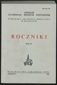 Annales Academiae Medicae Stetinensis = Roczniki Pomorskiej Akademii Medycznej w Szczecinie. 1994, 40