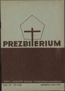 Prezbiterium. 1979 nr 11