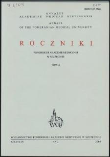 Annales Academiae Medicae Stetinensis = Roczniki Pomorskiej Akademii Medycznej w Szczecinie. 2005, 51, 2