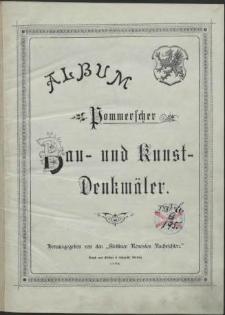 Album Pommerscher Bau- und Kunstdenkmäler