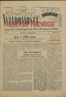 Wiadomości Przemysłu Terenowego : organ rad zakładowych przedsiębiorstw przemysłu terenowego woj. szczecińskiego. 1956 nr 9