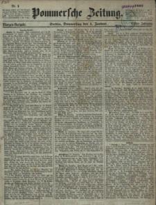 Pommersche Zeitung : organ für Politik und Provinzial-Interessen. 1863 Nr. 8