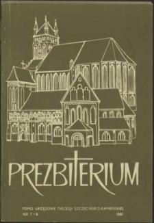 Prezbiterium. 1987 nr 7-9