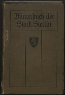 Bürgerbuch der Stadt Stettin