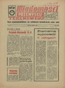 Wiadomości Przemysłu Terenowego : organ rad zakładowych przedsiębiorstw przemysłu terenowego woj. szczecińskiego. 1956 nr 16