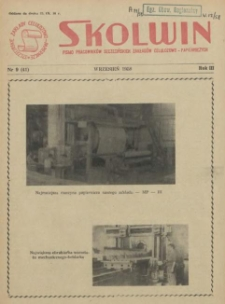 Skolwin : pismo pracowników Szczecińskich Zakładów Celulozowo-Papierniczych. R.3, 1958 nr 9