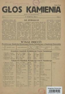 Głos Kamienia. R.1, 1952 nr 1