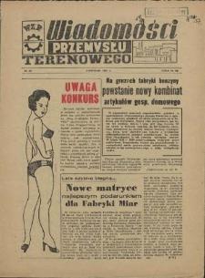 Wiadomości Przemysłu Terenowego : organ rad zakładowych przedsiębiorstw przemysłu terenowego woj. szczecińskiego. 1957 nr 29