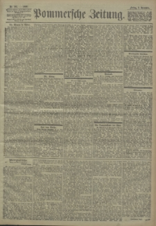 Pommersche Zeitung : organ für Politik und Provinzial-Interessen. 1900 Nr. 267