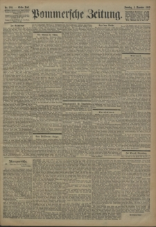 Pommersche Zeitung : organ für Politik und Provinzial-Interessen. 1900 Nr. 282 Blatt 1