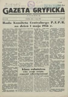 Gazeta Gryficka. R.3, 1954 nr 4
