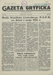 Gazeta Gryficka. R.3, 1954 nr 5