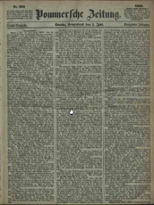 Pommersche Zeitung : organ für Politik und Provinzial-Interessen. 1865 Nr. 327