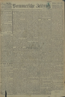 Pommersche Zeitung : organ für Politik und Provinzial-Interessen. 1905 Nr. 1 Blatt 2