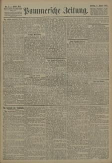 Pommersche Zeitung : organ für Politik und Provinzial-Interessen. 1905 Nr. 7 Blatt 1